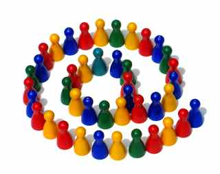 Ampersaand colorful figures